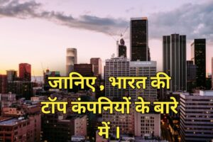जानिए भारत के टॉप 9 कॉम्पनियों के बारे में (2021)